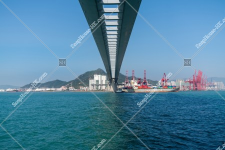 昂船洲大橋と海 その④