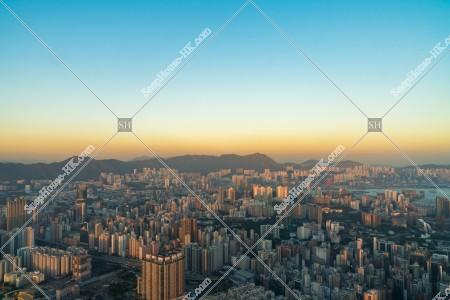 夕方の九龍北側の風景