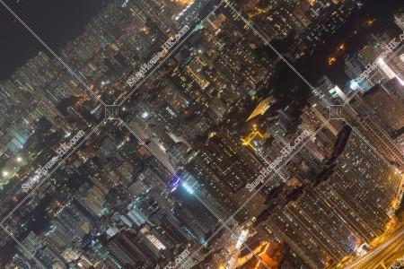 九龍 油麻地から北東側の夜景