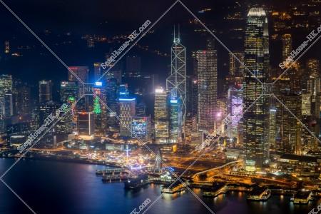 香港島 セントラル(中環)の夜景