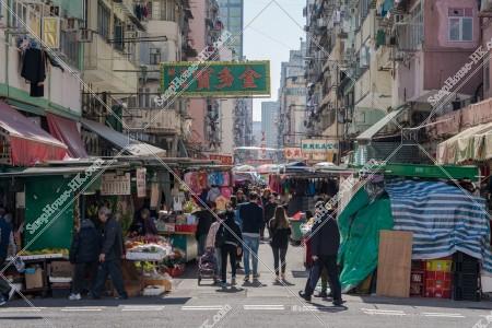 旺角 廣東道 市場の様子