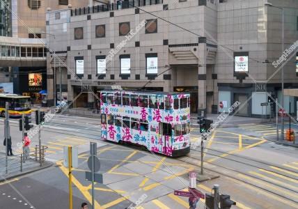 セントラル(中環)を走る香港トラム