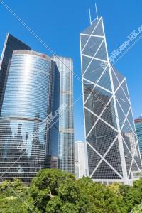 花園道三號と中国銀行タワー