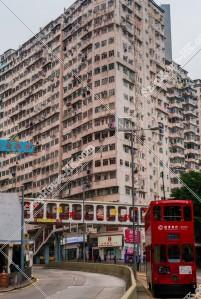 鰂魚涌 怪獣マンション(怪獣大廈) と香港トラム その①