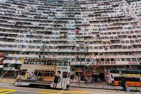鰂魚涌 怪獣マンション(怪獣大廈) と香港トラム その⑥