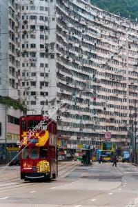 鰂魚涌 怪獣マンション(怪獣大廈) と香港トラム その⑧