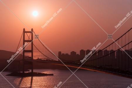 青馬大橋の夕方の景色 その③