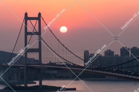 青馬大橋の夕方の景色 その⑤