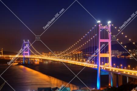 青馬大橋の夜景 その①