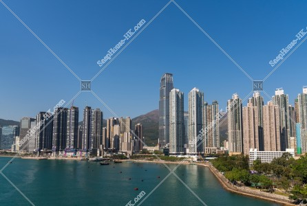 荃灣の高層マンション・ビルの風景 その①