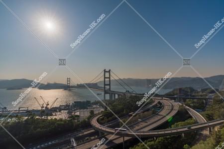 青馬大橋の昼の風景 その②