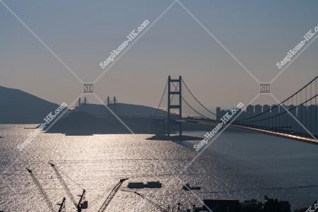 青馬大橋の昼の風景 その③