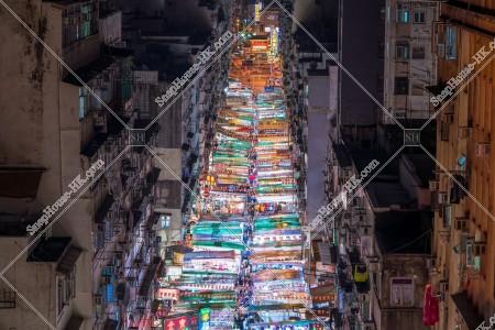 油麻地 廟街の夜景 その⑥