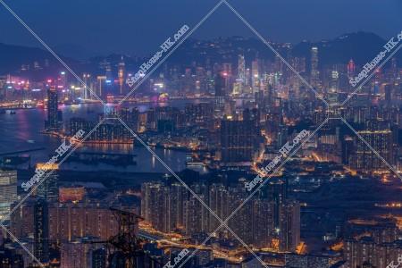飛鵝山から見る香港の夜景 その①