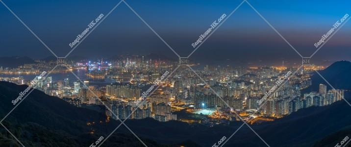 飛鵝山から見る香港の夜景 その②
