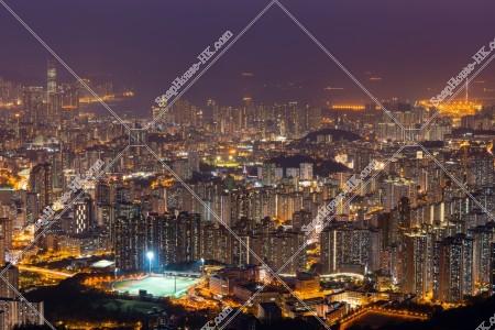 飛鵝山から見る香港の夜景 その④