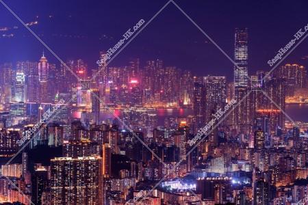 九龍半島と香港島の夜景 その⑥