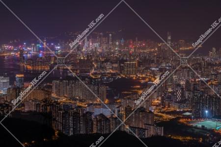 飛鵝山から見る香港の夜景 その⑦