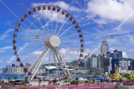 香港観覧車と灣仔のビル群の風景 その①