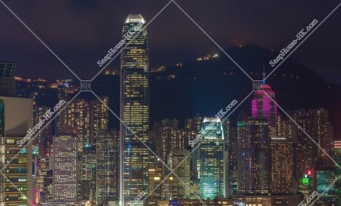 尖沙咀から見るセントラル(中環)の夜景 その①