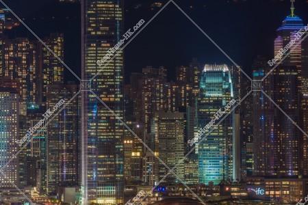 尖沙咀から見るセントラル(中環)の夜景 その④
