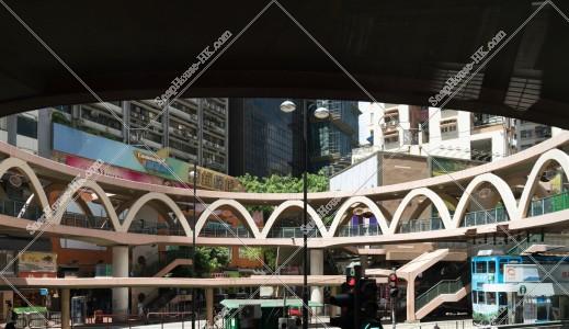 銅鑼灣 歩道橋の風景