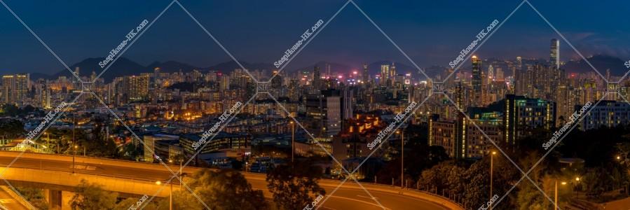 香港の高層ビル群の夕景 その⑦