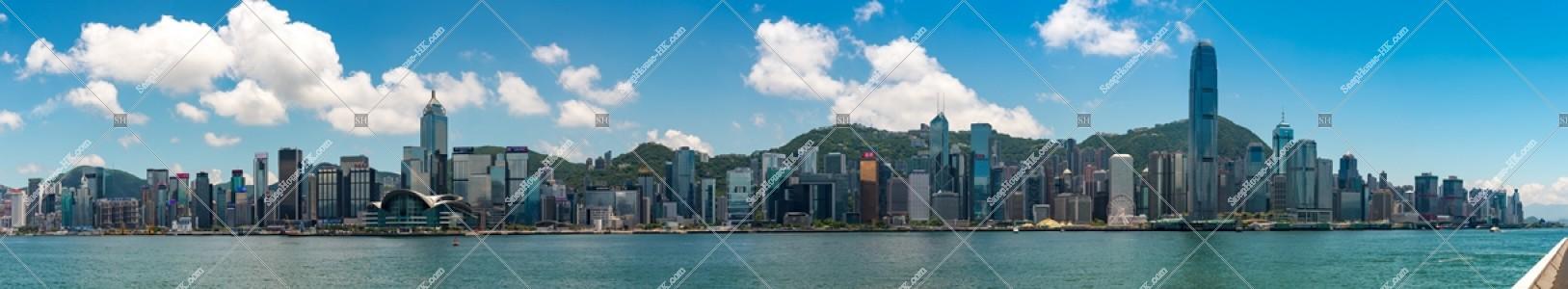 尖沙咀から見る香港島のスカイライン その①