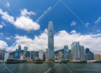 セントラル(中環)の高層ビル群の風景