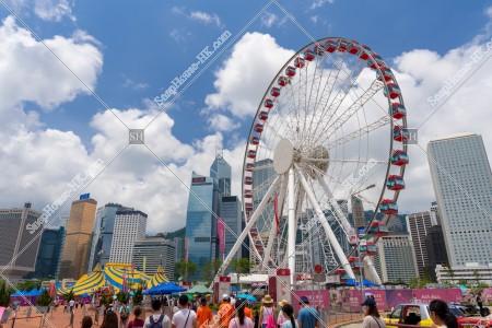 香港観覧車とセントラル(中環)の風景