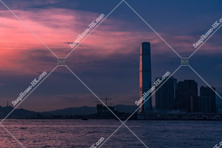 西九龍の夕景