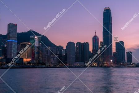セントラル(中環)~金鐘の高層ビル群の夕景 その④