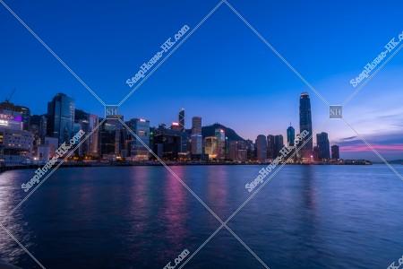 セントラル(中環)~金鐘の高層ビル群の夜景 その①