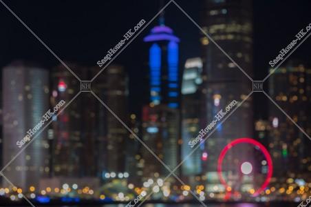 セントラル(中環)の高層ビル群の夜景 その⑤