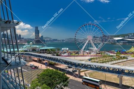 セントラル(中環) 香港観覧車とフェリー乗り場 その①