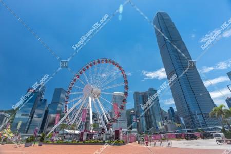 香港観覧車とセントラル(中環)のビル群 その②