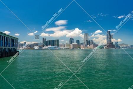 ヴィクトリアハーバーと尖沙咀の風景