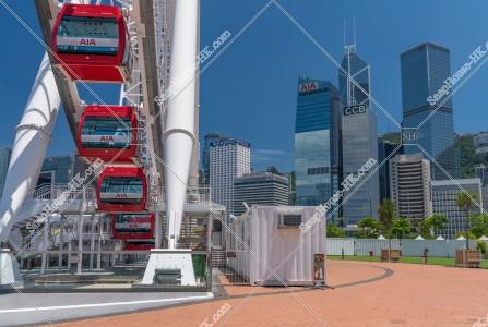 香港観覧車とセントラル(中環)のビル群 その④