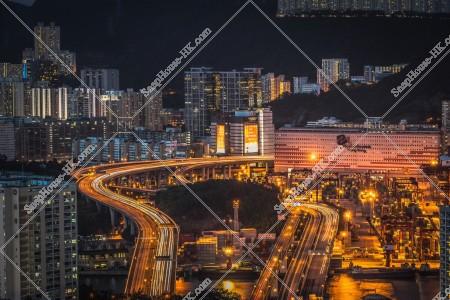 青衣大橋と葵涌の風景