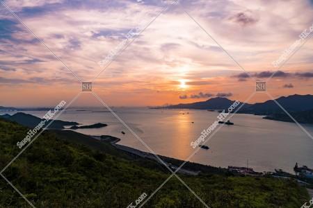 大嶼山(ランタオ島)から見る夕日 その②