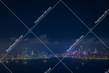九龍半島と香港島の夜景 その②