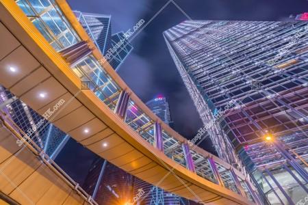 セントラル(中環) 金融関連の高層ビル群の夜景 その③