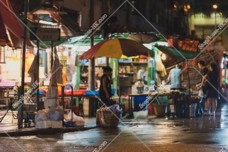 土瓜灣の夜のマーケットの風景