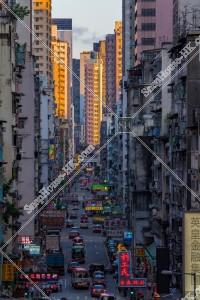 旺角 上海街の夕景 その①