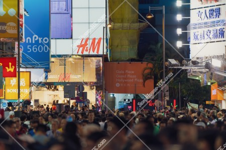 旺角 西洋菜街 夜の街並みと人々 その⑬