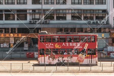 上環を走行する香港トラム その③