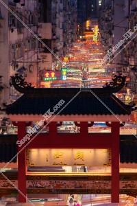 佐敦 廟街のナイトマーケットの風景 その⑦