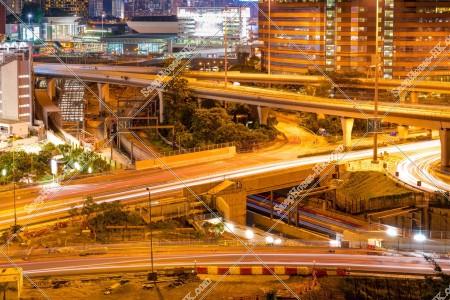 紅磡 夜のインターチェンジ
