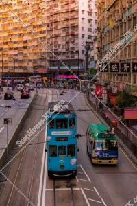北角 夕方の街並みと香港トラム その②