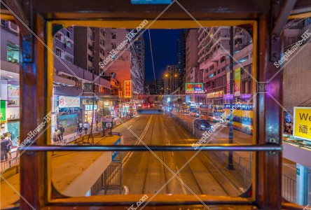 夜の香港トラムから見る夜景 その③